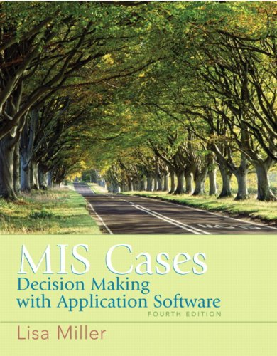 MIS Cases: Decision Making Wih Application Software 9780132381055