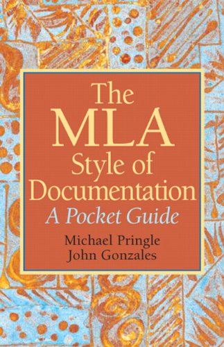 The MLA Style of Documentation: A Pocket Guide 9780136049739