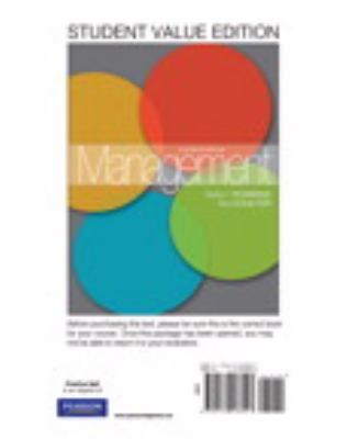 Management, Student Value Edition 9780132538947