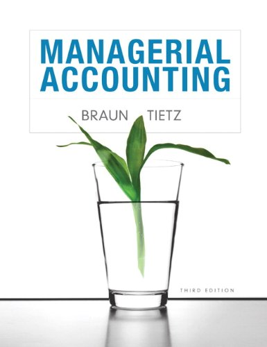 Managerial Accounting 9780132890540