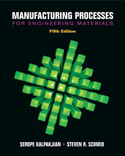 Manufacturing Processes for Engineering Materials 9780132272711