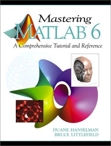 Mastering MATLAB 6 9780130194688
