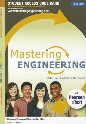 MasteringEngineering for Statics and Mechanics of Materials Standalone Student Access Code Card 9780132846448