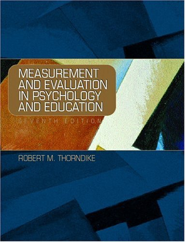 Measurement and Evaluation in Psychology and Education 9780130199980
