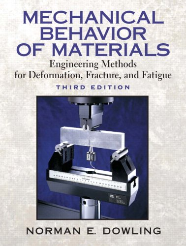Mechanical Behavior of Materials: Engineering Methods for Deformation, Fracture, and Fatigue 9780131863125