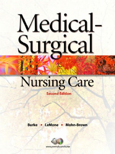 Medical-Surgical Nursing Care [With CDROM] 9780131714724