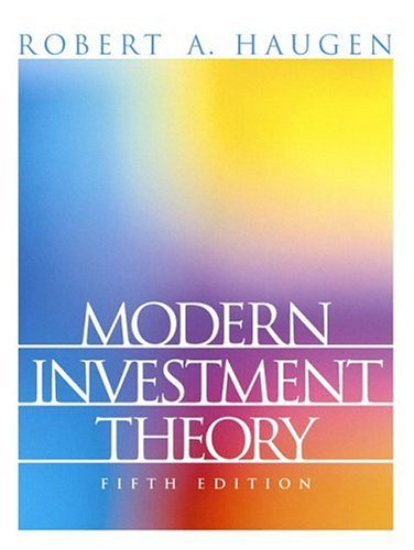 Modern Investment Theory 9780130191700