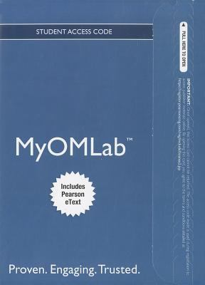 MyOMlab for Principles of Operations Management Student Access Code, Includes Pearson eText 9780132912303