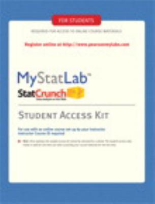 Mymathlab/Mystatlab -- Standalone Access Card 9780135027028