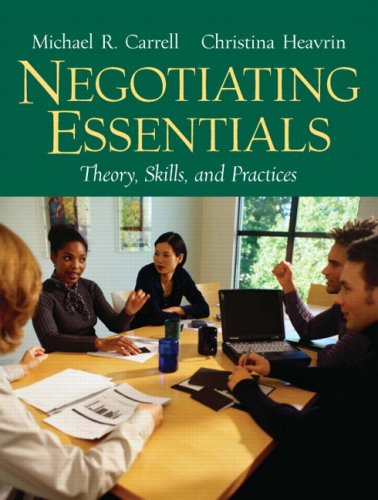 Negotiating Essentials: Theory, Skills, and Practices 9780131868663