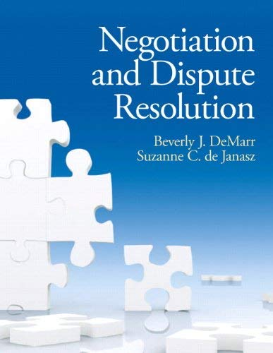 Negotiation and Dispute Resolution 9780131577534