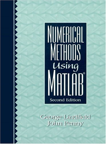 Numerical Methods Using MATLAB 9780130126412