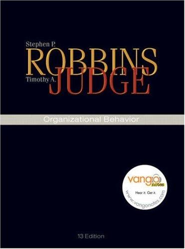 Organizational Behavior [With CDROM] 9780136007173