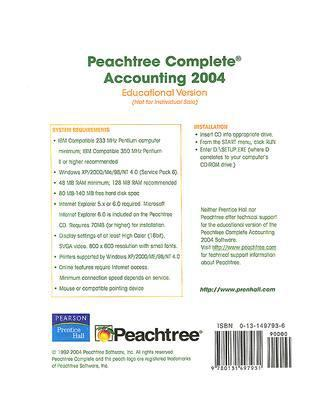 Peachtree Complete Accounting 2004: Educational Version 9780131497931