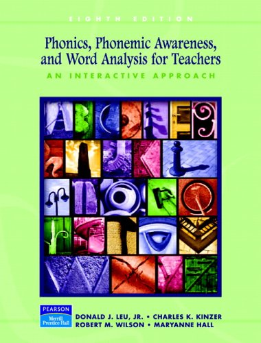 Phonics, Phonemic Awareness, and Word Analysis for Teachers: An Interactive Tutorial 9780131715875