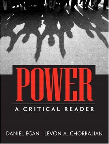 Power: A Critical Reader 9780131834385
