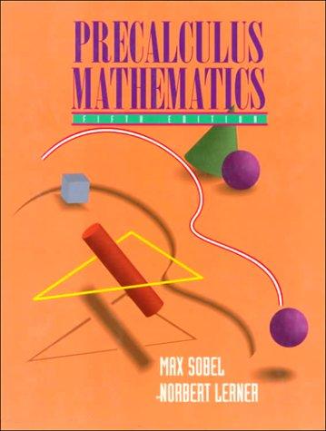 Precalculus Mathematics 9780131120952