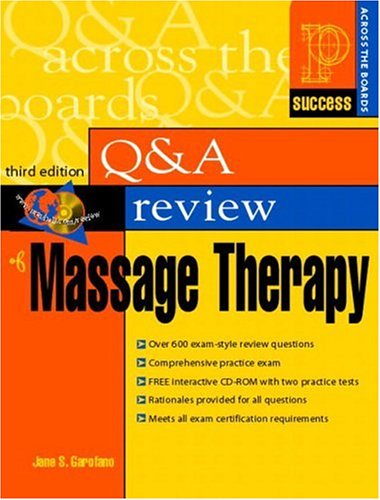 Prentice Hall Health's Question & Answer Review of Massage Therapy [With CDROM] 9780130490988