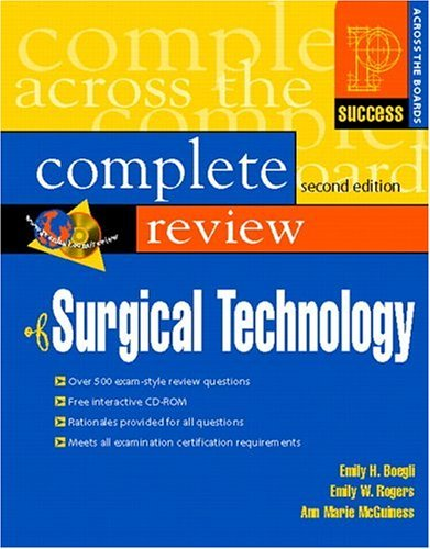 Prentice Hall's Complete Review of Surgical Technology 9780130495396