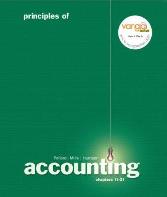Principles of Accounting, Managerial Chap. 11-21 9780136147749