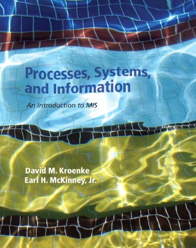 Processes, Systems, and Information: An Introduction to MIS 9780132783477