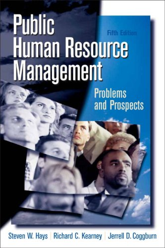 Public Human Resource Management: Problems and Prospects 9780136037699