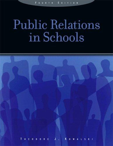 Public Relations in Schools 9780131747975