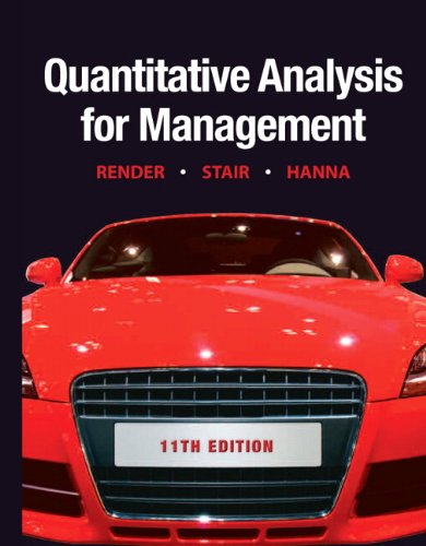 Quantitative Analysis for Management 9780132149112