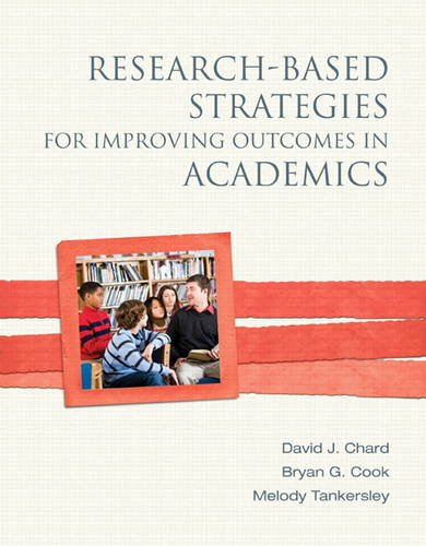 Research-Based Strategies for Improving Outcomes in Academics 9780137029907