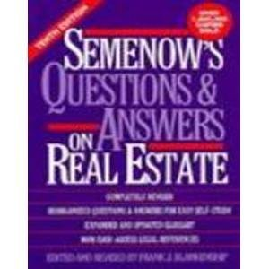 Semenow's Questions & Answers on Real Estate 9780137475933