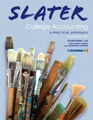 Slater College Accounting, Chapters 1-12: A Practical Approach [With Working Papers and Study Guide] 9780136065661