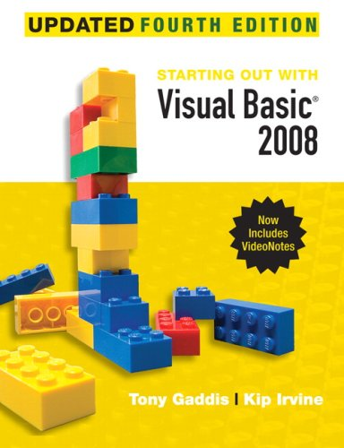 Starting Out with Visual Basic 2008 Update [With DVD and Access Code] 9780136076957