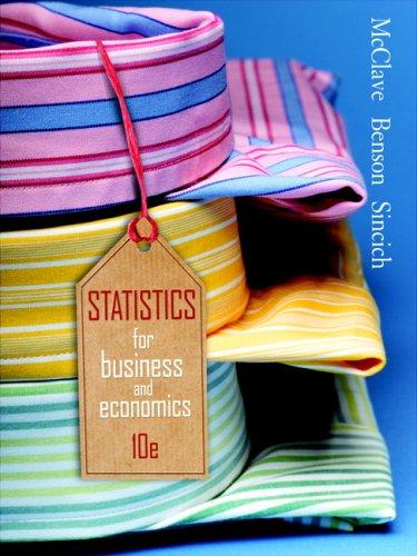 Statistics for Business & Economics 9780132409353