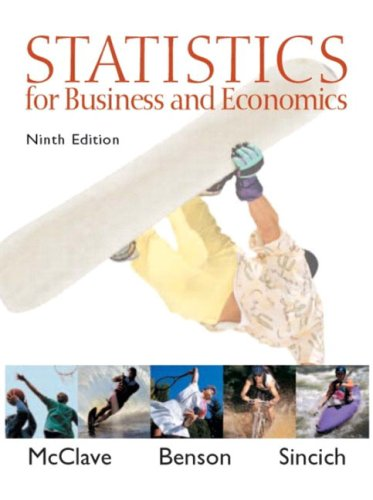 Statistics for Business and Economics [With CDROM] 9780130466419