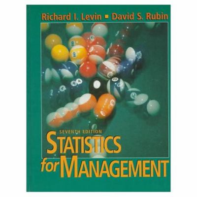 Statistics for Management 9780134762920