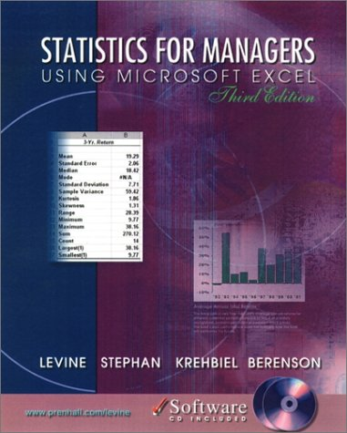 Statistics for Managers Using Microsoft Excel 9780130290908