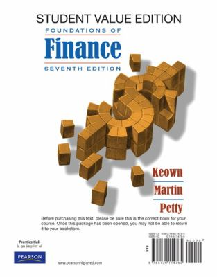 Foundations of Finance: The Logic and Practice of Financial Management, Student Value Edition 9780136114765