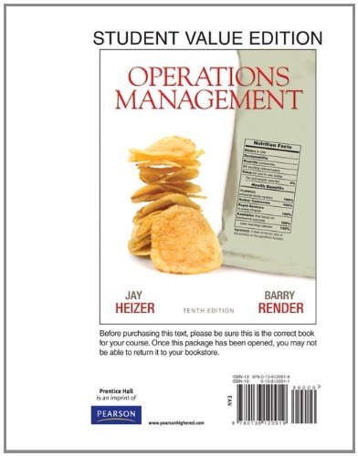 Operations Management, Student Value Edition 9780136120919