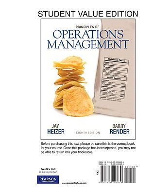 Principles of Operations Management, Student Value Edition 9780135106839