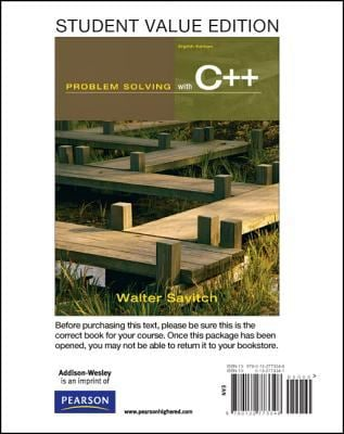 Student Value Edition for Problem Solving with C++ 9780132773348