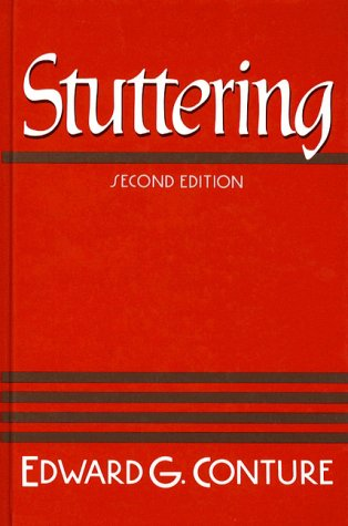 Stuttering By Edward G Conture Reviews Description