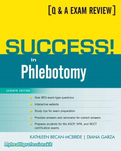 Success! in Phlebotomy 9780135101001