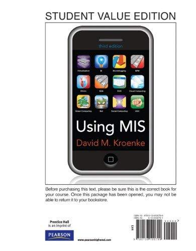 Using MIS 9780136100799