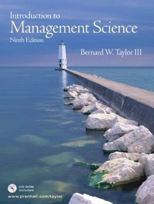 Supplement: Introduction to Management Science - Introduction to Management Science with Student CD 9/E 9780131961333