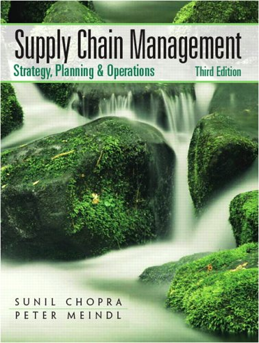 Supply Chain Management: Strategy, Planning, and Operation 9780131730427