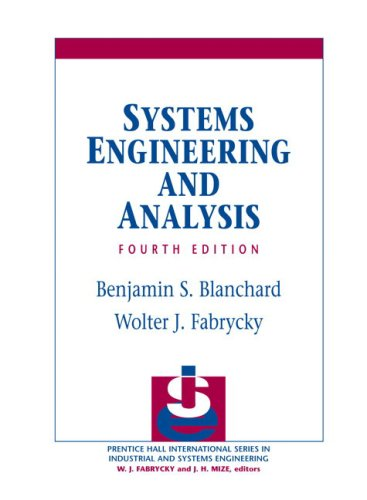 Systems Engineering and Analysis 9780131869776