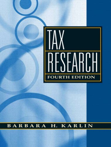 Tax Research - 4th Edition