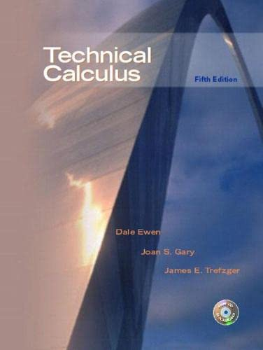 Technical Calculus 9780130488183