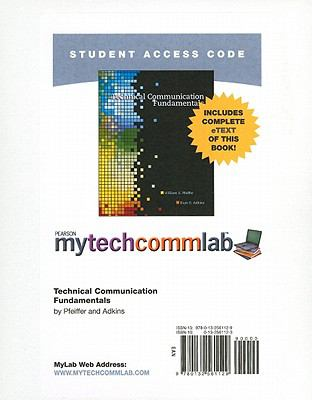 Technical Communication Fundamentals, Student Access Code 9780132561129