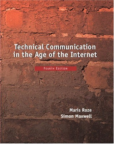Technical Communication in the Age of the Internet 9780130205742
